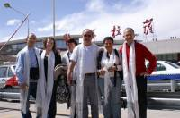 French travelers in Lhasa Airport  » Click to zoom ->