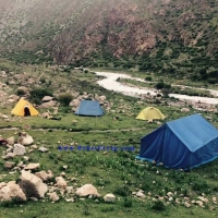 Camping near river  » Click to zoom ->