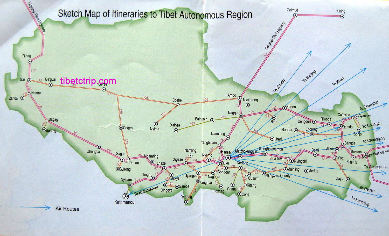 Tibet Travel Maps Tibet Tourist Travel Maps New Maps Of Tibet - Tibet in world map