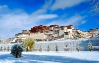 Snow covered Potala Palace  » Click to zoom ->