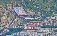 Drepung Monastery, Thangka Unveiling  » Click to zoom ->