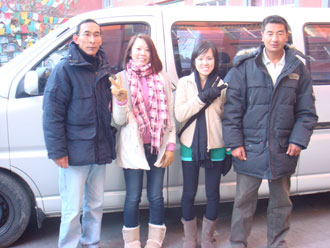 Singaporean Travelers traveled in Tibet with Tibet Ctrip Travel Service in winter 2009