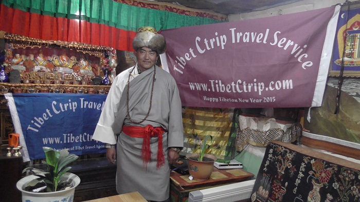 Tibetan Driver Kelsang Wangchuk at Local Tibet tour agency TCTS